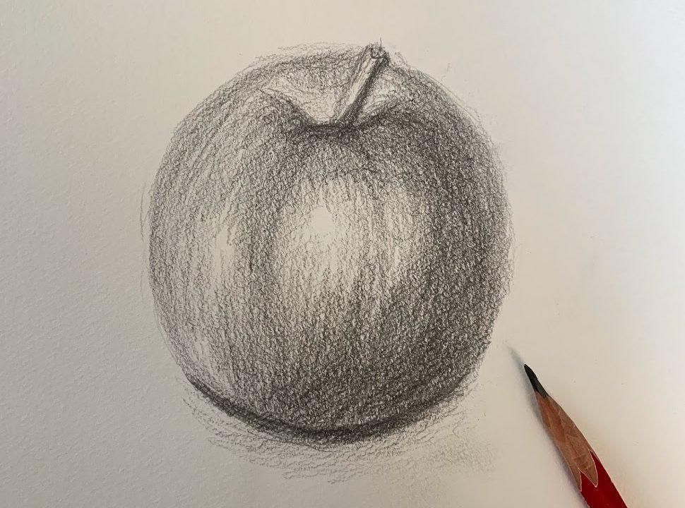 りんごデッサン